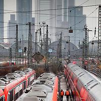 Nov/Dec 2011 - Stock photo shoot - Greenpeace Int - Transport, Travel , Frankfurt (Main) Hauptbahnhof (usually translated from German as Frankfurt (Main) Central Station, - shots of lines and trains