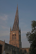 St Marys and All Saints Parish Church, crooked spire, Chesterfield, Derbyshire, England