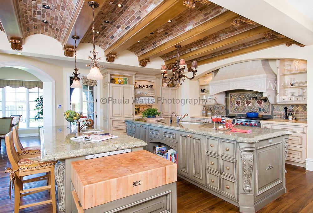 Elegant spacious kitchen interior in Mountain Town