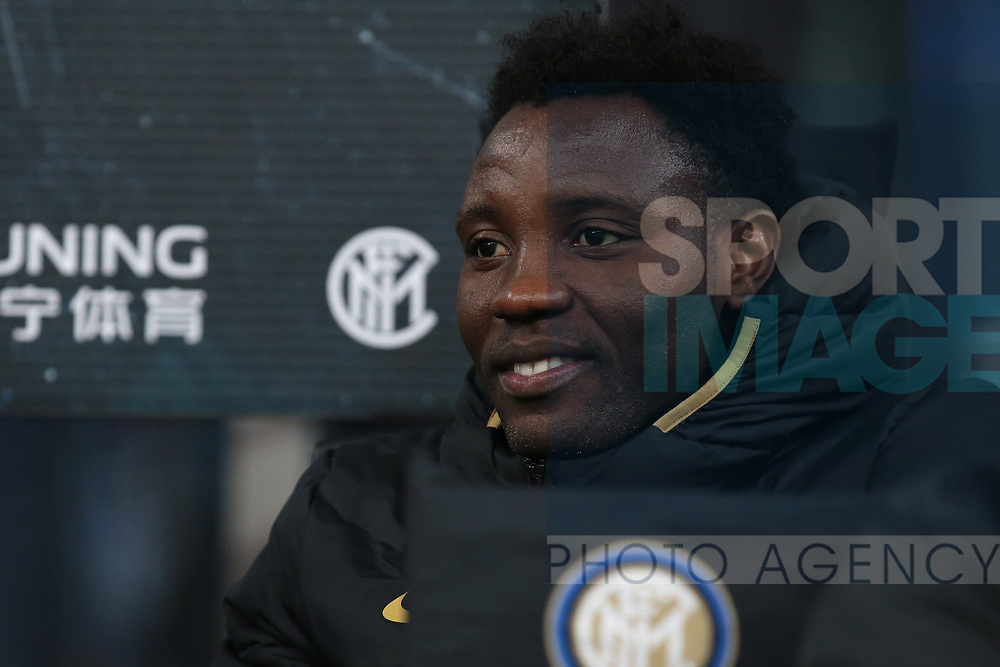 Kwadwo Asamoah of Inter pictured on the bench during the Serie A match at Giuseppe Meazza, Milan. Picture date: 9th February 2020. Picture credit should read: Jonathan Moscrop/Sportimage