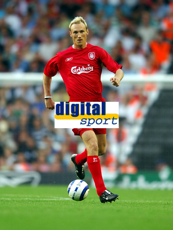 Sami Hyypia<br />Liverpool 2005/06<br />Liverpool V Total Network Soloutions (3-0) 13/07/05<br />UEFA Champions League Qualifier, 1st Round 1st Leg<br />Photo Robin Parker Fotosports International