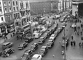 1955 -  Traffic scenes on Westmoreland Street, Dublin.