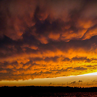 Storm clouds and a threatening sky roll over Lake Wisconsin.