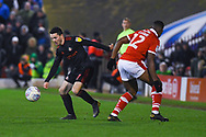 Lewis Morgan of Sunderland (17) gets past Dimitri Cavare of Barnsley (12) during the EFL Sky Bet League 1 match between Barnsley and Sunderland at Oakwell, Barnsley, England on 12 March 2019.