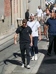Andrew Taggart of music duo 'The Chainsmokers' is seen arriving at 'Jimmy Kimmel Live' in Los Angeles, California. NON-EXCLUSIVE September 13, 2018. 13 Sep 2018 Pictured: Alex Pall,Andrew Taggart. Photo credit: BG017/Bauergriffin.com / MEGA TheMegaAgency.com +1 888 505 6342