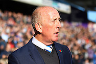 Huddersfield Town Academy Manager Mark Lillis looks on prior to kick off. Skybet football league Championship match, Huddersfield Town v Leeds United at the John Smith's Stadium in Huddersfield, Yorks on Saturday 7th November 2015.<br /> pic by Chris Stading, Andrew Orchard sports photography.