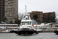 DURBAN - 1 March 2013 - Durban tug, the Inyalazi (formerly known as the Piet Aucamp up until 2002) was built in 1984. It was built in Durban and has a gross tonnage of 315 tons with a dead weight tonnage of 629 tons. Picture: Giordano Stolley