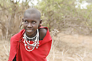 TANZANIA. Longido Mountain Area..August 3rd 2009..A Maasai kid..