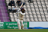 Ryan Patel of Surrey batting during the Specsavers County Champ Div 1 match between Hampshire County Cricket Club and Surrey County Cricket Club at the Ageas Bowl, Southampton, United Kingdom on 6 September 2017. Photo by Graham Hunt.