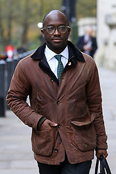 © Licensed to London News Pictures. 05/11/2019. London, UK. Liberal Democrat MP for East Surrey SAM GYIMAH arrives for the launch of Liberal Democrat general election campaign in Westminster. A general election will be held on 12 December 2019. Photo credit: Dinendra Haria/LNP