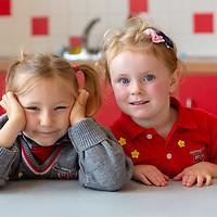 Anna Pilinska and Hannah Mangan at their First day at Ennis National School