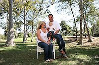 7 September 2009:  Robert (33), Jessica (29) and Garrett Hodge at the park in Huntington Beach, CA.  Summer portrait session for personal use.