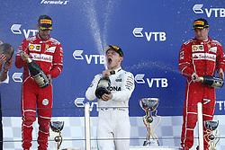 April 30, 2017 - Sotschi, Russia - Motorsports: FIA Formula One World Championship 2017, Grand Prix of Russia, .#77 Valtteri Bottas (FIN, Mercedes AMG Petronas), #5 Sebastian Vettel (GER, Scuderia Ferrari)#7 Kimi Raikkonen (FIN, Scuderia Ferrari) (Credit Image: © Hoch Zwei via ZUMA Wire)