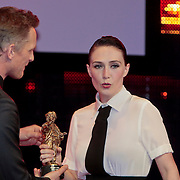 NLD/Amsterdam/20110328 - Uitreking Rembrandt Awards 2011, Carice van houten wint de Rembrandt Beste Nederlandse Actrice