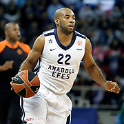 Anadolu Efes's Alfred Jamon Lucas during their Turkish Airlines Euroleague Basketball playoffs Game 3 Anadolu Efes between Olympiacos at Abdi ipekci Arena in Istanbul, Turkey, Wednesday, April 17, 2013. Photo by Aykut AKICI/TURKPIX