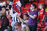England fans cheering at the final whistle during the UEFA European Under 17 Championship 2018 match between England and Italy at the Banks's Stadium, Walsall, England on 7 May 2018. Picture by Mick Haynes.