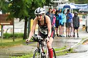 Beth Stalker during the bike segment in the 2018 Hague Endurance Festival Olympic Triathlon