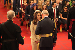 Keira Knightley from London is made an OBE (Officer of the Order of the British Empire) by the Prince of Wales at Buckingham Palace. This picture is not for use after 13 February 2019, without Buckingham Palace approval. PRESS ASSOCIATION Photo. Picture date: Thursday December 13, 2018. See PA story ROYAL Investiture. Photo credit should read: Jonathan Brady/PA Wire