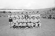 The Down Team before the All Ireland Senior Gaelic Football Final Kerry v Down in Croke Park on the 22nd September 1968. Down 2-12 Kerry 1-13. crow over capacities sitting on wall,