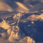Evening light dancing over snow near Churchill, Manitoba. Canada.