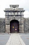 Entrance doorway to Dartmoor prison, Princetown, Devon, England, UK