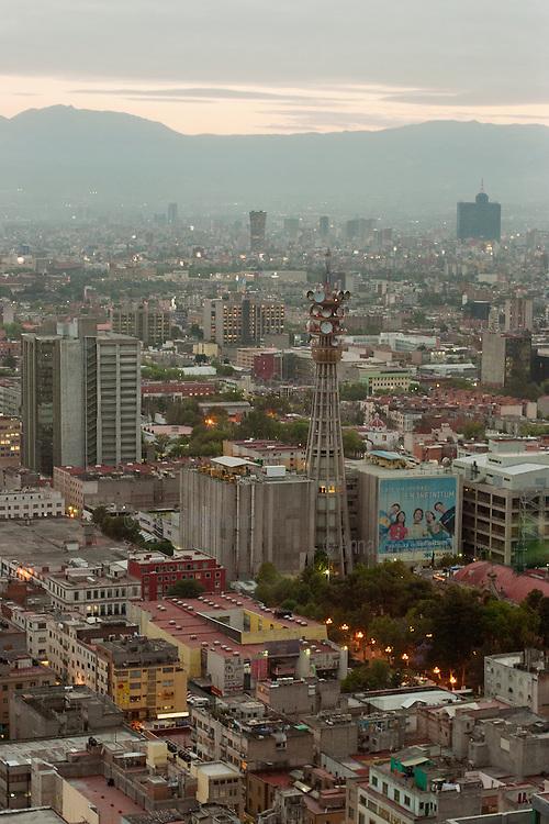 Skyline of Mexico City from Torre Latinoamericana.Skyline di città del messico dalla torre Latinoamericana