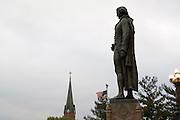 Jefferson City, Missouri MO USA, The Missouri state capitol building the statue of Thomas Jefferson October 2006