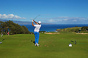 January 10 2015:  Jason Day tees off on number eleven during the Second Round of the Hyundai Tournament of Champions at Kapalua Plantation Course on Maui, HI.