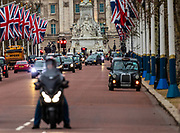 January 31, 2020, London, England, United Kingdom: United Kingdom flags fly around the Pall Mall Street towards Buckingham Palace in London on Jan. 31, 2020, ahead of the country's departure from the European Union. (Credit Image: © Vedat Xhymshiti/ZUMA Wire)