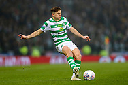 James Forrest (#49) of Celtic plays a short range pass during the Betfred Cup Final between Celtic and Aberdeen at Celtic Park, Glasgow, Scotland on 2 December 2018.