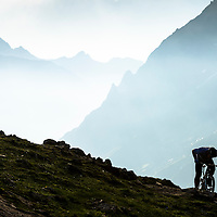Richie Rude, early start, La Grave, France.