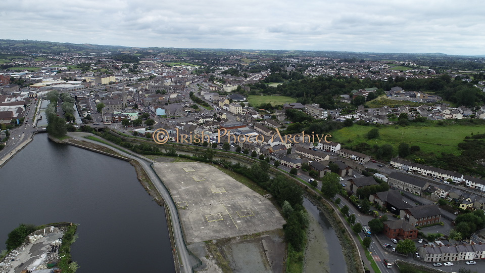 Aerial Images Summer 2020 Around Count Down Ireland, Near Dromaroad and Newry Town, Albert Basin Park, Canal Newry Co Down