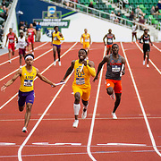 June 11, 2021 Eugene, OR  U.S.A. LSU anchored by Terrence Larid wins the 4x100m relay during the NCAA division 1 mens and womens track and field outdoor championship at Hayward Field Eugene, OR. Thurman James / CSM
