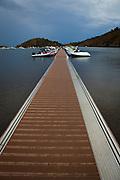 Boat jetty at Cala de Portlligat, Cadaques, Catalonia, Spain