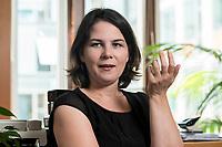 02 JUL 2019, BERLIN/GERMANY:<br /> Annalena Baerbock, MdB, B90/Gruene, Parteivorsitzende, waehrend einem Interview, in ihrem Buero, Jakob-Kaiser-Haus, Deutscher Bundestag<br /> IMAGE: 20190702-01-030