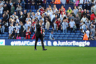 Sunderland's manager Paolo Di Canio walks off dejected at end of match after his team lose. Barclays Premier league match, West Bromwich Albion v Sunderland at the Hawthorns in West Bromwich, England on Sat 21st Sept 2013. pic by Andrew Orchard, Andrew Orchard sports photography,