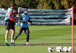 Wayne Rooney and Michael Carrick of Manchester United - Mandatory by-line: Matt McNulty/JMP - 19/10/2016 - FOOTBALL - Manchester United - Training session ahead of Europa League game against Fenerbahce