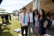ROHAN VARMA; LORENZO QUINN;  SONIA VARMA; ROMA VARMA, The Dalwhinnie Crook  charity Polo match  at Longdole  Polo Club, Birdlip  hosted by the Halcyon Gallery. . 12 June 2010. -DO NOT ARCHIVE-© Copyright Photograph by Dafydd Jones. 248 Clapham Rd. London SW9 0PZ. Tel 0207 820 0771. www.dafjones.com.