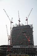 Broadgate tower, 201 Bishopsgate, under construction, April 2007, from Whitechapel, London, England