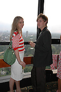 Daisy de Villeneuve and Tyler Manowald, Telegraph magazine 40th anniversary, Windows, London Hilton. 6 September 2004. SUPPLIED FOR ONE-TIME USE ONLY-DO NOT ARCHIVE. © Copyright Photograph by Dafydd Jones 66 Stockwell Park Rd. London SW9 0DA Tel 020 7733 0108 www.dafjones.com