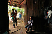 A family lives in poverty in the town of Esmeralda, Honduras.  Honduras is considered the third poorest country in the Western Hemisphere (Haiti, Nicaragua). With over 50% of the population living below the poverty line and 28% unemployed, Hondurans frequently turn to illegal immigration as a solution to their desperate situation. The Department of Homeland Security has noted an 95% increase in illegal immigrants coming from Honduras between 2000 and 2009, the largest increase of any country.