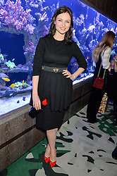 SOPHIE ELLIS-BEXTOR at a dinner hosted by Creme de la Mer to celebrate the launch of Genaissance de la Mer The Serum Essence held at Sexy Fish, Berkeley Square, London on 21st January 2016.