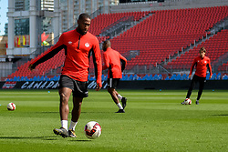 September 1, 2017 - Toronto, Ontario, Canada - David Junior Hoilett during open training session conference in Toronto before the Canada-Jamaica Men's International Friendly match at BMO Field in Toronto Canada September 2, 2017  (Credit Image: © Anatoliy Cherkasov/NurPhoto via ZUMA Press)