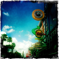 Entrance to Universal Orlando Resort. Orlando holiday 2012. Photo taken with the Hipstamatic photo application on Apple iPhone 4.