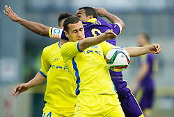 Mate Eterovic of Domzale vs Marcos Tavares of Maribor during football match between NK Domzale and NK Maribor in 25th Round of Prva liga Telekom Slovenije 2014/15, on March 22, 2015 in Sports park Domzale, Slovenia. Photo by Vid Ponikvar / Sportida