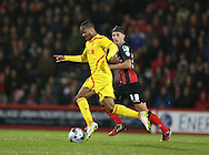 Liverpool striker Raheem Sterling during the Capital One Cup match between Bournemouth and Liverpool at the Goldsands Stadium, Bournemouth, England on 17 December 2014.
