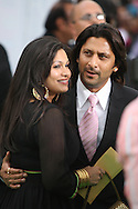Indian actor Arshad Warsi (right) and his wife Maria Goretree arriving at the International Indian Film Academy Awards (IIFA) ceremony at the Hallam Arena in Sheffield for the annual IIFA awards. The awards were known as the 'Bollywood Oscars' and ran from 7-10th June. They were watched by an estimated global television audience 500 million people.