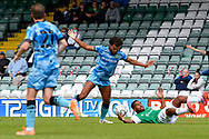 Dominic Bernard (3) of Forest Green Rovers battles for possession during the Pre-Season Friendly match between Yeovil Town and Forest Green Rovers at Huish Park, Yeovil, England on 31 July 2021.