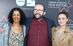 Edinburgh International Film Festival, Thursday, 21st June 2018<br /> <br /> Jury Photocall<br /> <br /> Pictured:  Miriam Bale, Alejandro Diaz Castano and Sophie Skelton of the Shorts Jury<br /> <br /> (c) Alex Todd   Edinburgh Elite media