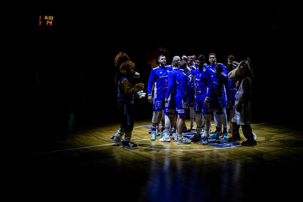 ÖSTERSUND 20211007<br /> Jämtland laddar för torsdagens match i basketligan mellan Jämtland Basket och Norrköping Dolphins.<br /> Foto: Per Danielsson / Projekt.P